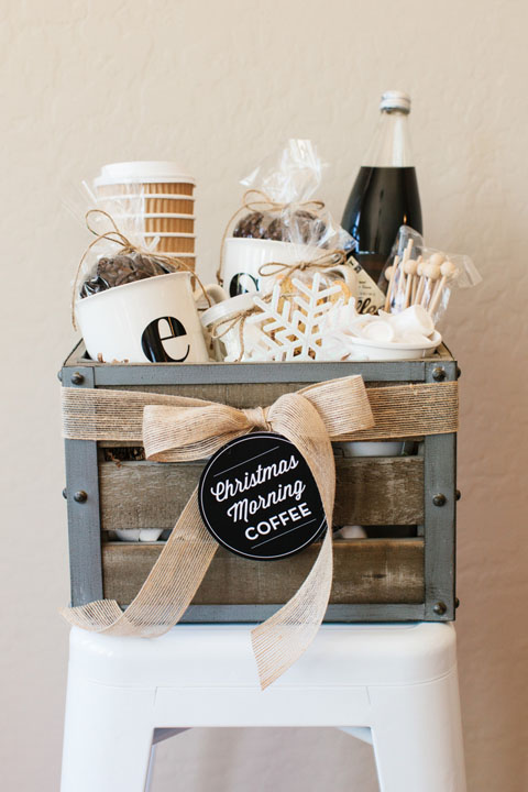DIY Gift Baskets For Men: Coffee Lovers Gift Basket