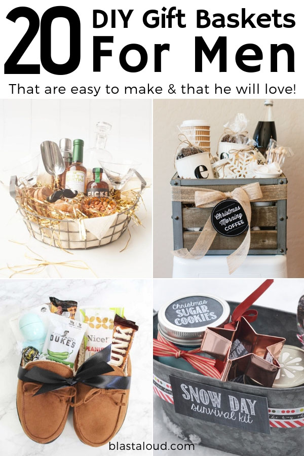 Gift Baskets For Men 20 Diy Gift Baskets For Him That He Will Love
