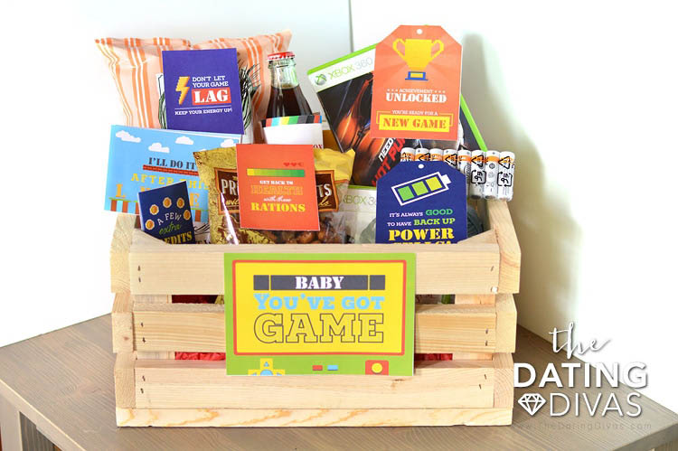 DIY Gift Baskets For Men: Gamers Gift Bakset