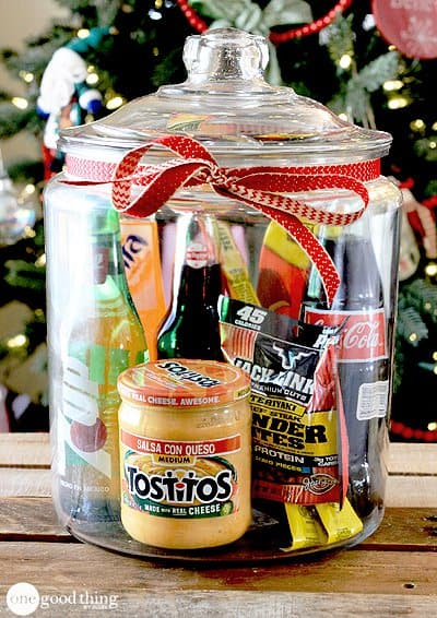 DIY Gift Baskets For Men: Man Food in a Jar