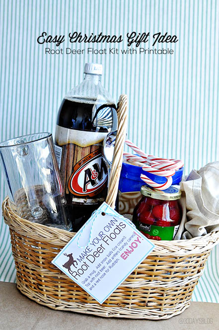 DIY Gift Baskets For Men: Root Beer Float Kit