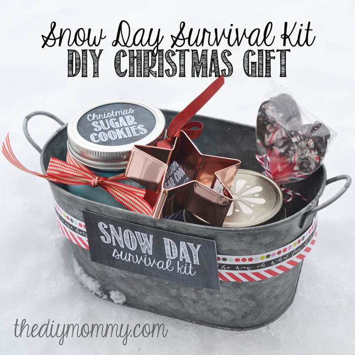 DIY Gift Baskets For Men: Snow Survival Kit
