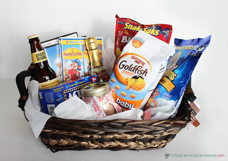 DIY Gift Baskets For Men: Spiked Movie Night Gift Basket