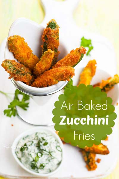 Healthy Air Fryer Recipes: Air Baked Zucchini Fries Recipe