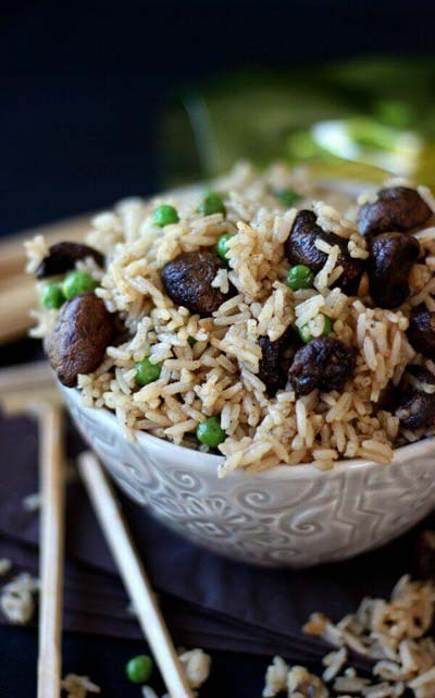 Healthy Air Fryer Recipes: Air Fryer Sticky Mushroom Rice