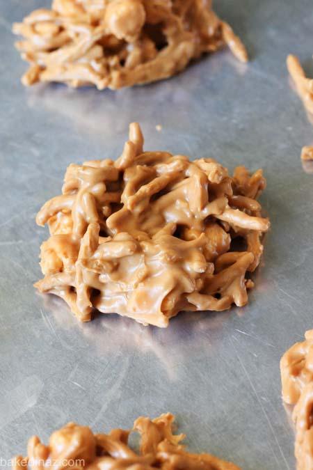 No Bake Christmas Desserts: Butterscotch Haystacks