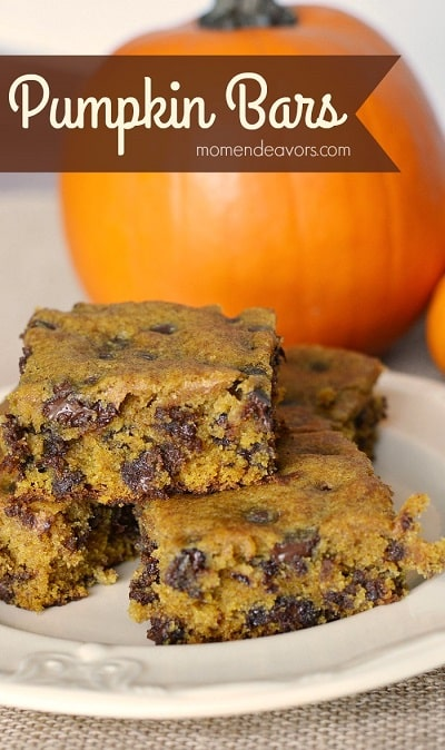Pumpkin Spice Recipes: Chocolate Chip Pumpkin Bars