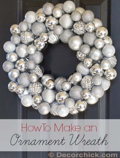 DIY Christmas Wreaths: Christmas Ornament Wreath