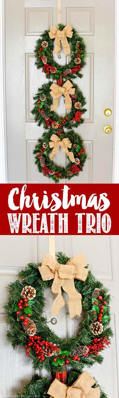 DIY Christmas Wreaths: Christmas Wreath Trio