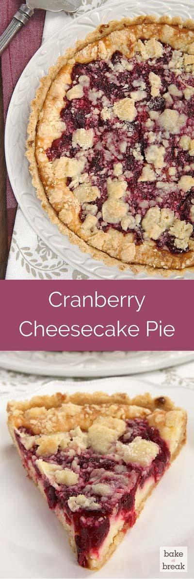 Cranberry Dessert Recipes: Cranberry Cheesecake Pie