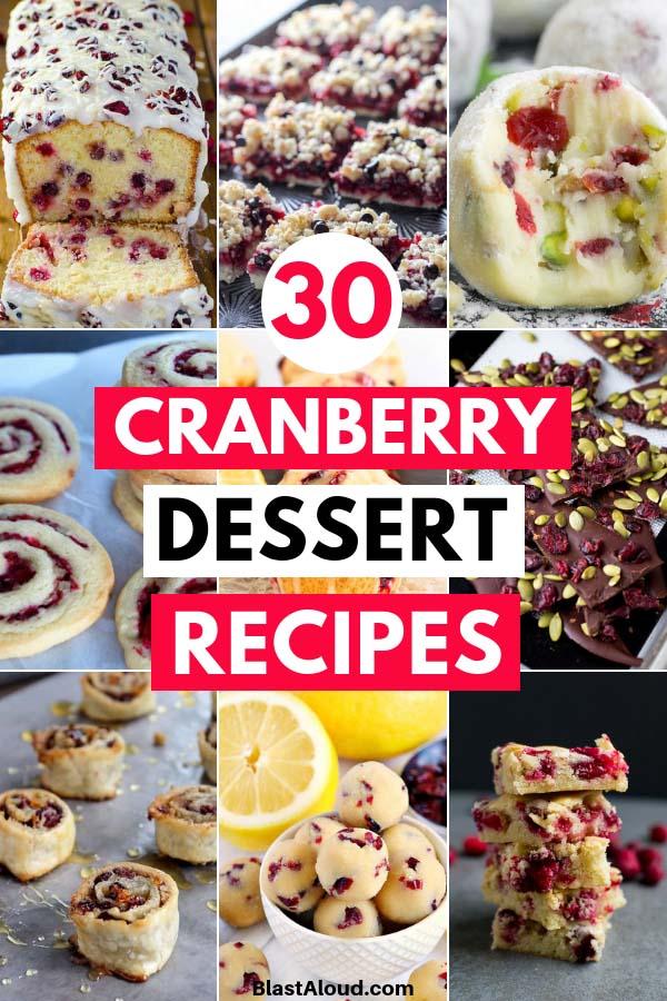 Cranberry Dessert Recipes