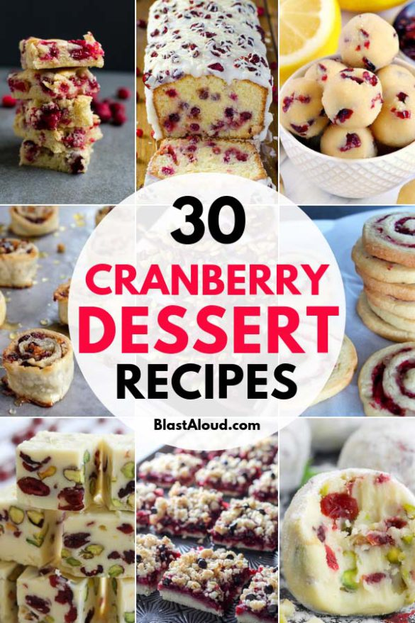 Cranberry Dessert Recipes