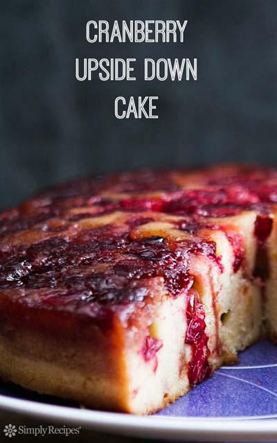 Cranberry Dessert Recipes: Cranberry Upside Down Cake