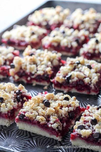 Cranberry Dessert Recipes: Cranberry Walnut Crumb Bars
