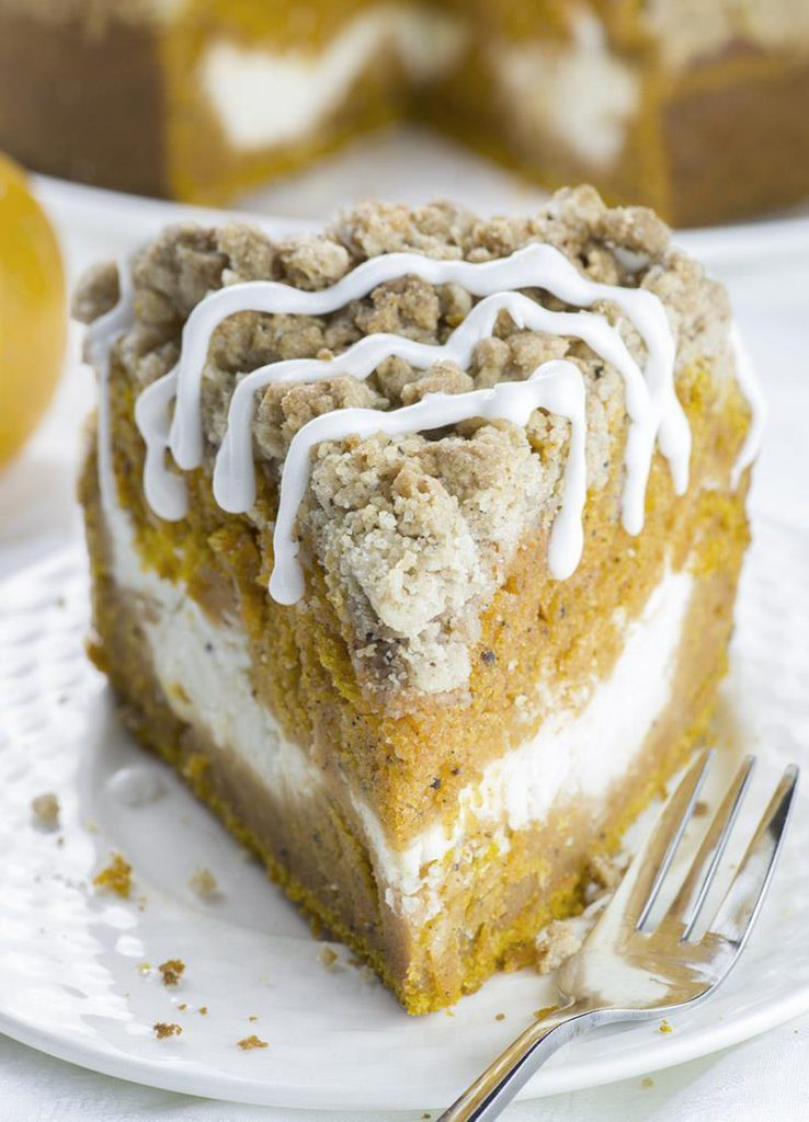 Pumpkin Spice Recipes: Cream Cheese Pumpkin Crumb Cake