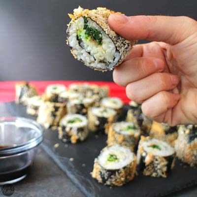 Healthy Air Fryer Recipes: Crunchy Air Fryer Sushi Roll