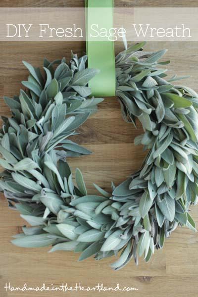 DIY Christmas Wreaths: DIY Fresh Sage Wreath