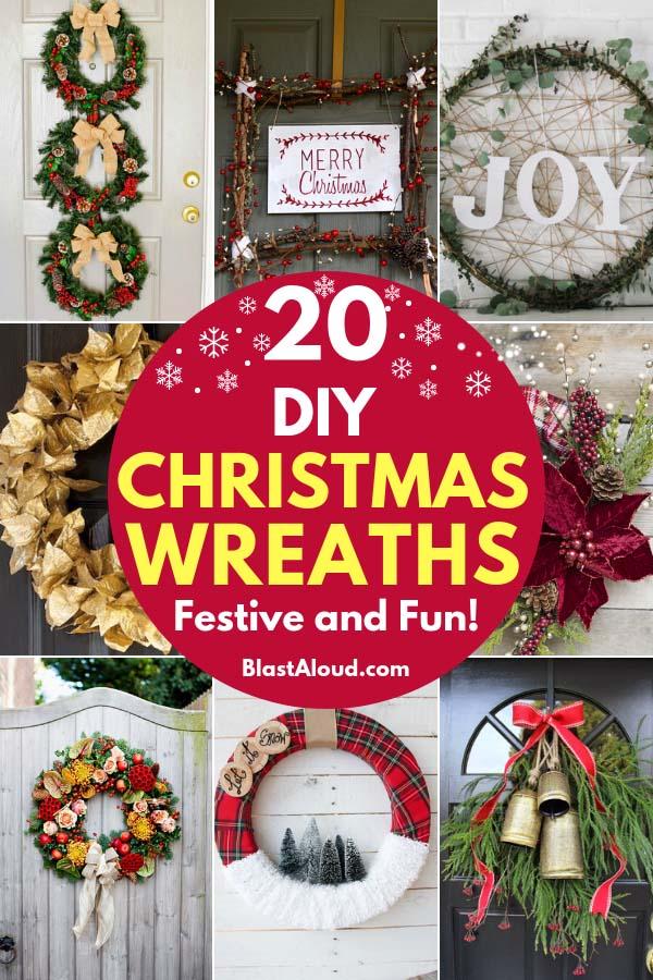 Christmas Wreath Ideas.20 Festive Diy Christmas Wreaths Holiday Wreath Ideas