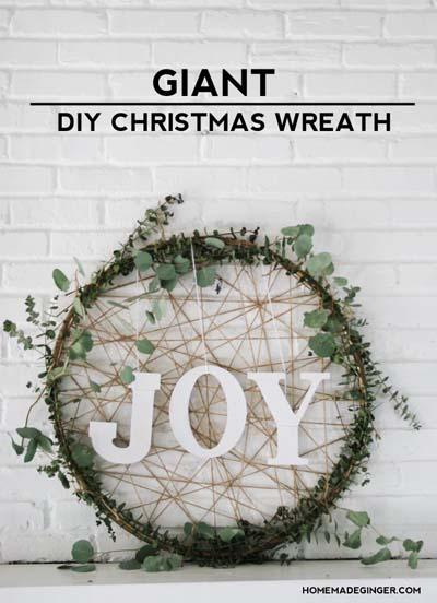DIY Christmas Wreaths: Giant Diy Christmas Wreath