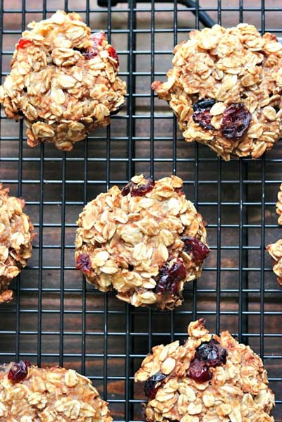 Cranberry Dessert Recipes: Healthy Cranberry Oatmeal Breakfast Cookies