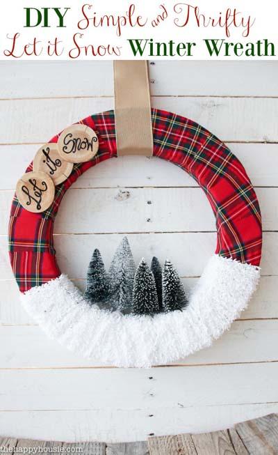 DIY Christmas Wreaths: Let it Snow Christmas Wreath