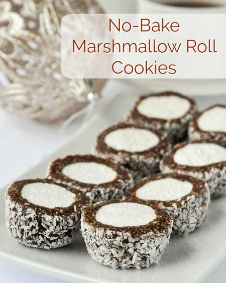 No Bake Christmas Desserts: Marshmallow Roll Cookies