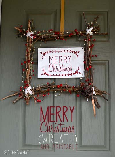 DIY Christmas Wreaths: Merry Christmas Scandinavian Wreath