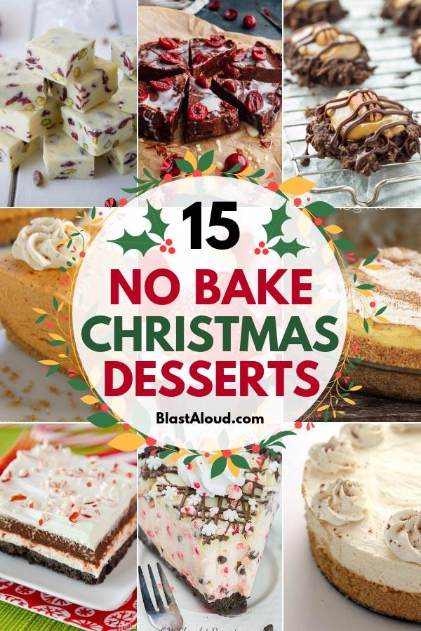 No Bake Christmas Desserts