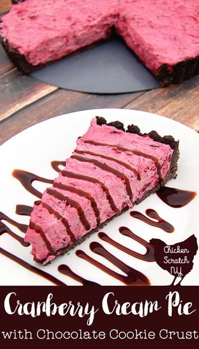 Cranberry Dessert Recipes: No Bake Cranberry Cream Tart