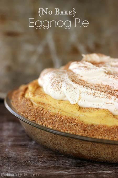 No Bake Christmas Desserts: No Bake Eggnog Pie