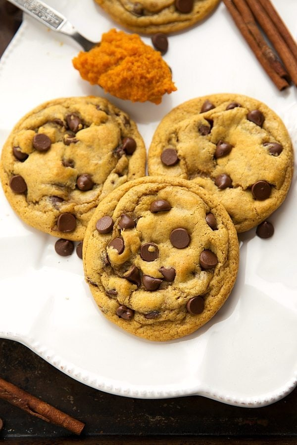 Pumpkin Spice Recipes: Pumpkin Spice Chocolate-chip Cookies