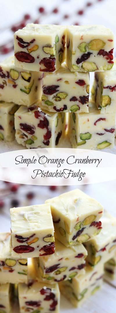 Cranberry Dessert Recipes: Simple Orange Cranberry Pistachio Fudge