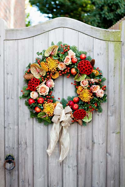 DIY Christmas Wreaths: Traditional Christmas Wreath