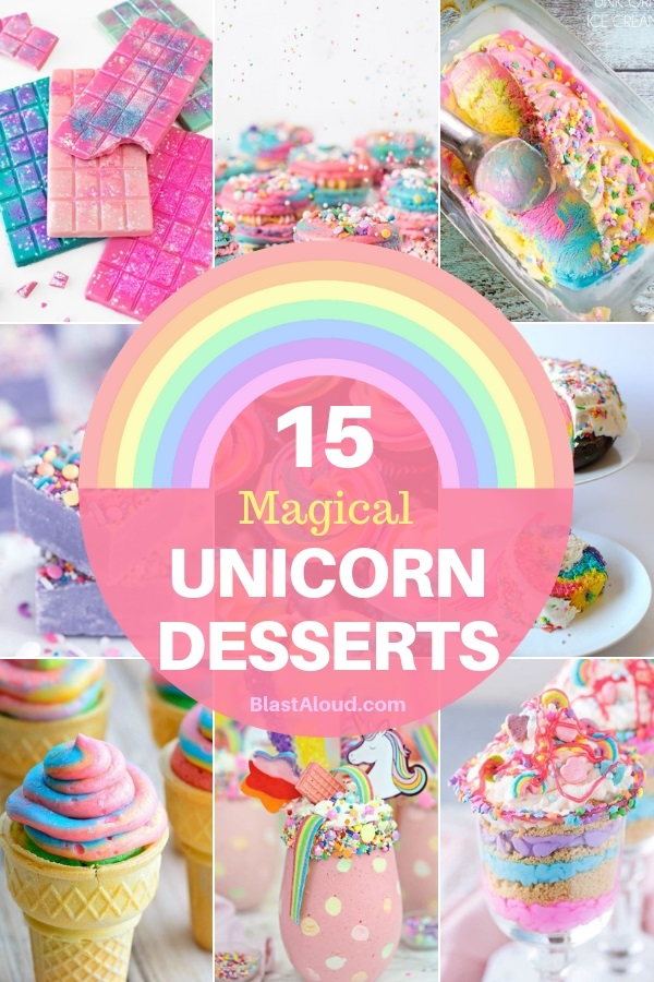 Unicorn Desserts for a magical unicorn party!