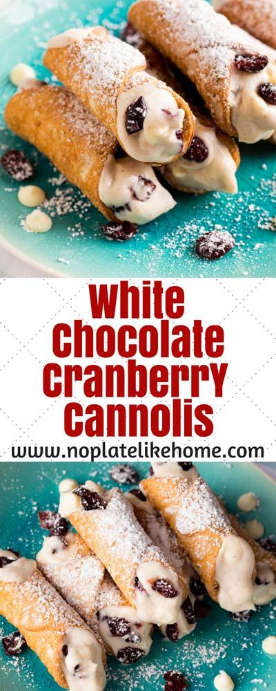 Cranberry Dessert Recipes: White Chocolate Cranberry Cannolis