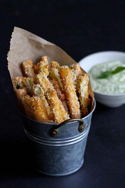 Party Snack Ideas & Party Appetizers: Baked Zucchini Fries