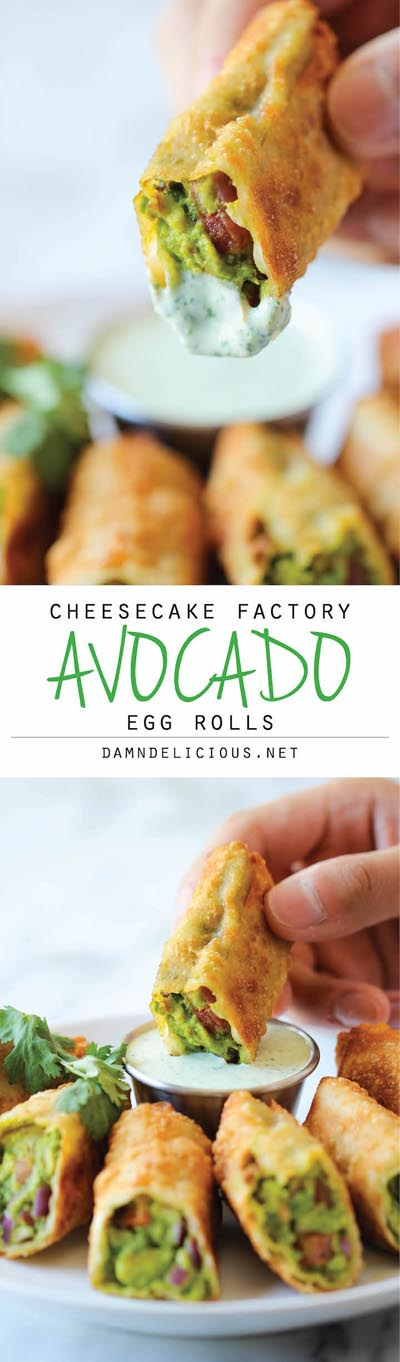 Party Snack Ideas & Party Appetizers: Cheesecake Factory Avocado Egg Rolls