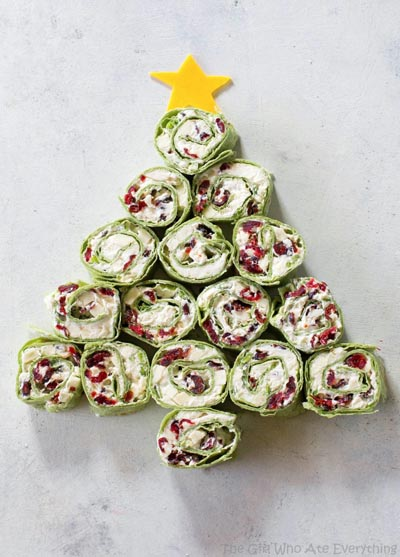 Party Snack Ideas & Party Appetizers: Cranberry And Feta Pinwheels