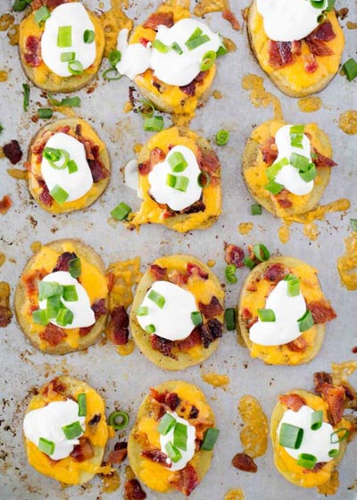 Party Snack Ideas & Party Appetizers: Easy Potato Skins Recipe
