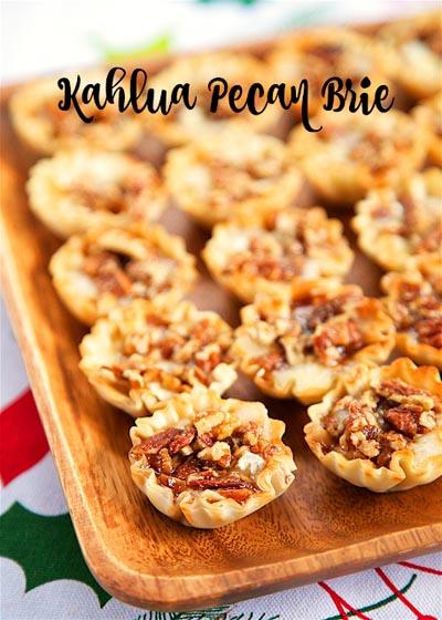 Party Snack Ideas & Party Appetizers: Kahlua Pecan Brie