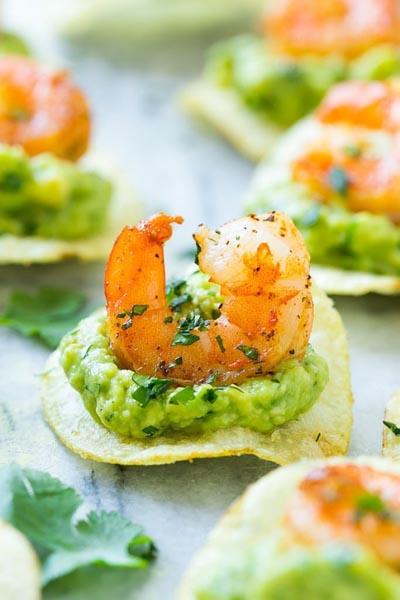 Party Snack Ideas & Party Appetizers: Mexican Shrimp Bites