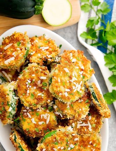 Party Snack Ideas & Party Appetizers: Parmesan Zucchini Crisps
