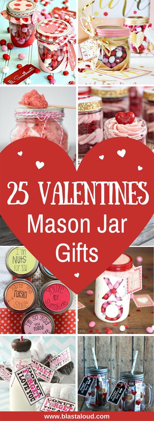 Cute DIY Mason Jar Gifts for Valentines Day