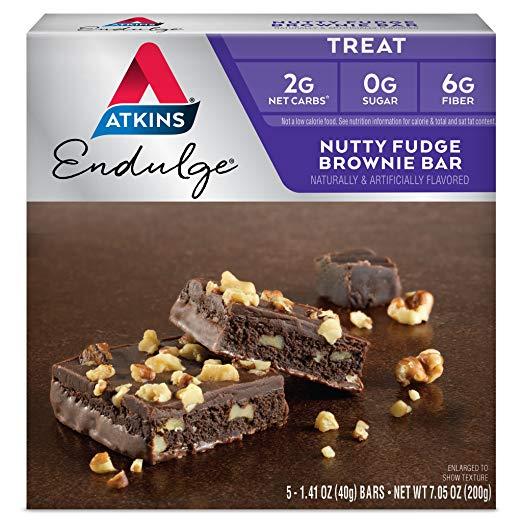 Keto Desserts To Buy: Atkins Nutty Fudge Brownie Bar