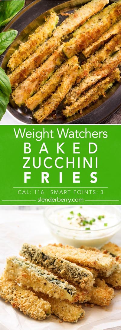 Weight Watchers Recipes With SmartPoints: Baked Zucchini Fries