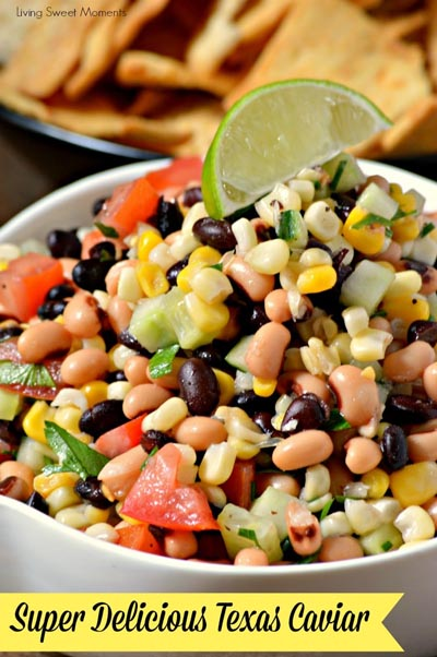 Healthy Super Bowl Appetizers: Best Ever Texas Caviar Dip Appetizer