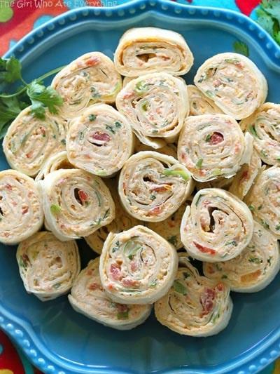 Pinwheel Appetizers & Pinwheel roll ups: Chicken Enchilada Roll Ups