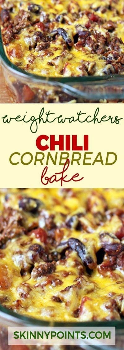 Weight Watchers Recipes With SmartPoints: Chili Cornbread Bake Recipe