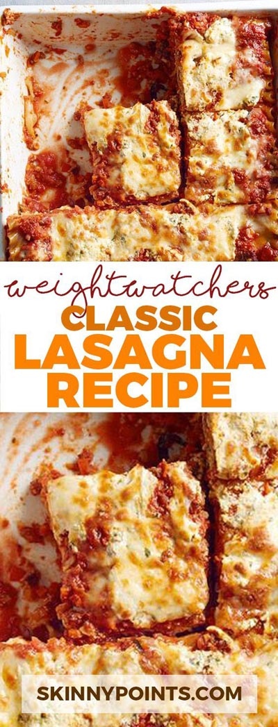 Weight Watchers Recipes With SmartPoints: Classic Lasagna Recipe