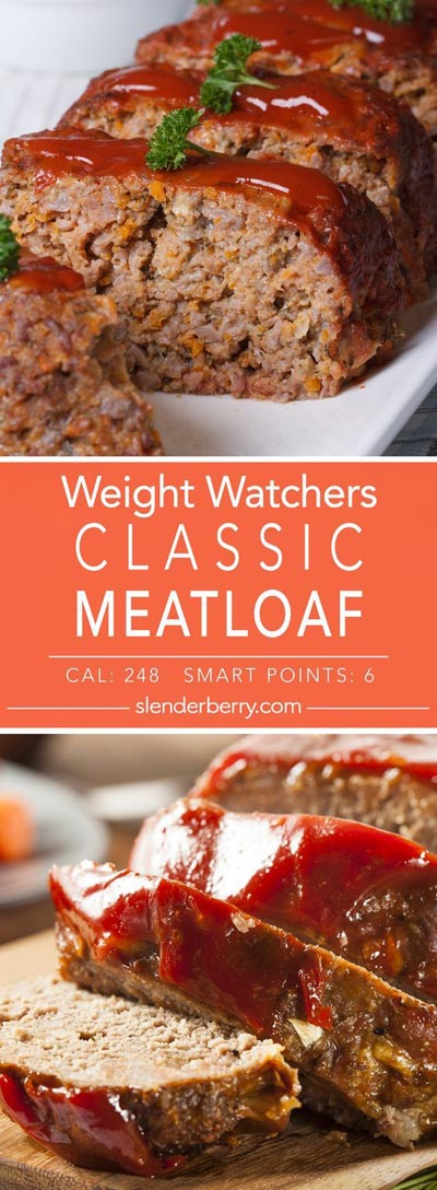 Weight Watchers Recipes With SmartPoints: Classic Skinny Meatloaf